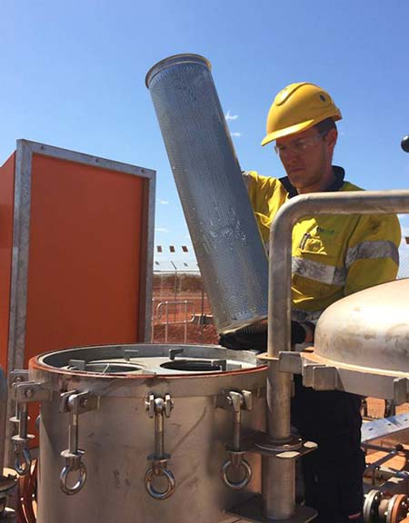 Ultraspin debris strainers oil water separator